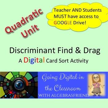 Discriminant: Find and Drag - A Digital Activity