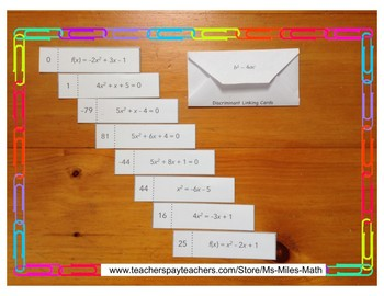 Discriminant Linking Cards and Envelope