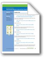 Discriminates Between Long and Short Vowel Sounds (assessment)