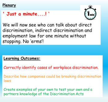 Discrimination: Equal Opportunities