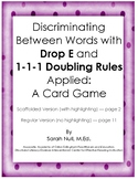 Discrimination Game for Practice Reading Words with Drop and Double Suffix Rules