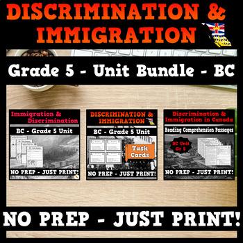 Discrimination and Immigration in Canada Bundle - BC Social Studies - Grade 5