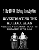 Discrimination in America: Investigating the KKK with Primary Sources