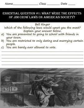 Discrimination in America: Jim Crow Online Scavenger Hunt Lesson