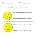 Discuss Opposite Emotions Worksheet