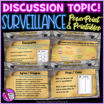Surveillance discussion for teens