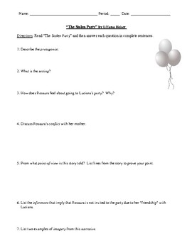 Discrimination Themes in Four Short Stories: Worksheets (or Tests) & Answer Keys