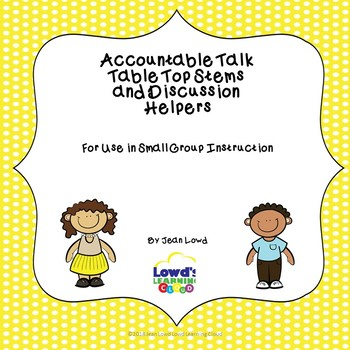 Discussion Accountable Talk Stems and Activities