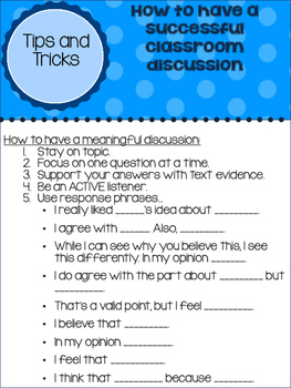 Discussion Activities for ANY text