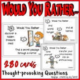 WOULD YOU RATHER – 212 Cards with Thought-Provoking Questions