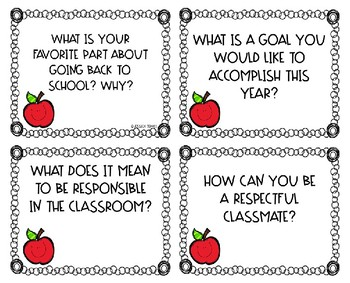 Discussion Cards: Back to School