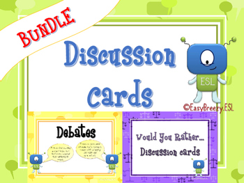 Discussion Cards Bundle: Debates & Would You Rather...(a Total of 120 Cards!)