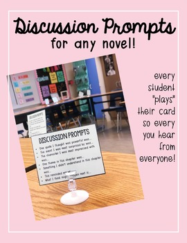 Discussion Cards for ANY NOVEL!