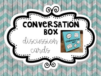 Discussion Cards for Conversation Box (Set 1)