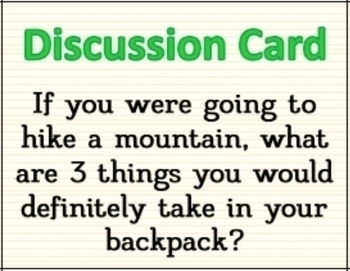 Public Speaking and Group Discussion Cards for Elementary Students