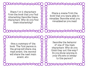 Discussion Cards for Fiction and Non-Fiction Texts
