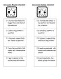 Discussion Checklist