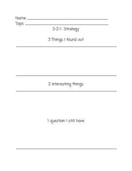 Discussion, Collaboration or Reading Response Recording Sheet
