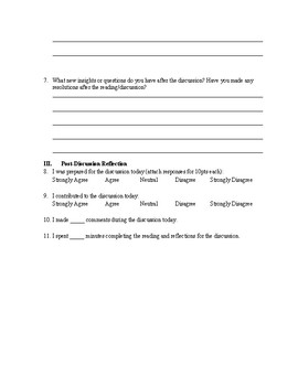 Discussion Group Evaluation Form