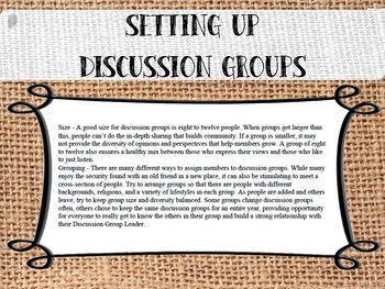 Discussion Group Leader How-To ***SECULAR***