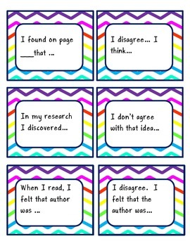 Reading Discussion Guide Cards