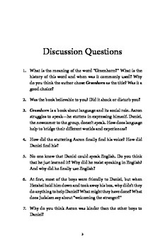 Discussion Guide for GREENHORN