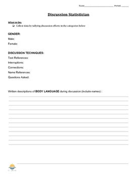 Discussion Handouts (Student Jobs & Rubric)