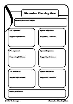 Discussion Planning Sheet Portrait