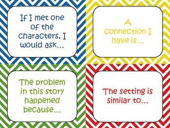 Discussion Prompt Cards Beginning of the Year & All Subjects