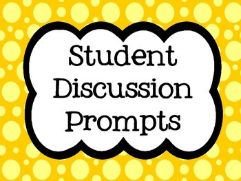 Discussion Prompt posters