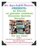 Discussion Questions Template for Edmodo and Printable wor
