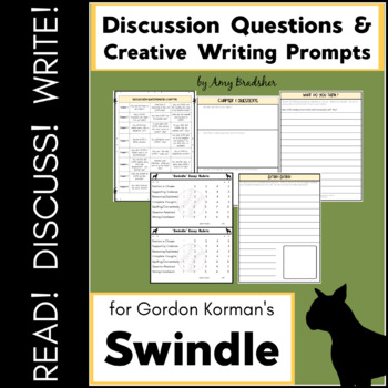 """Discussion Questions & Creative Writing Prompts for """"Swindle"""" & """"Masterminds"""""""