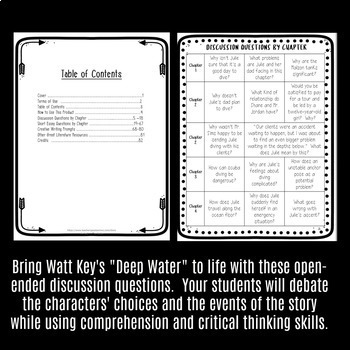 """Discussion Questions & Creative Writing Prompts for Watt Key's """"Deep Water"""""""