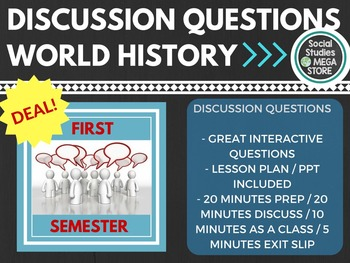 Discussion Questions First Semester World History