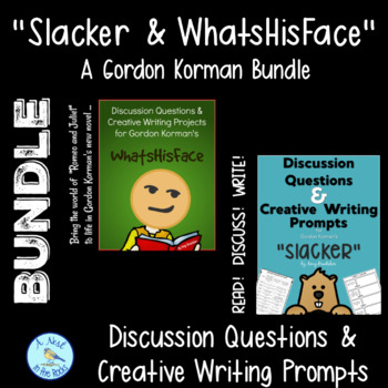 "Discussion Questions & Writing Projects for ""Slacker"" & ""WhatsHisFace"" - Bundle"