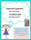 Discussion Questions for All About Sam by Lois Lowry