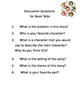 Discussion Questions for Book Talks