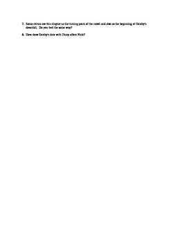 Discussion Questions for Chapter Five of F. Scott Fitzgerald's The Great Gatsby