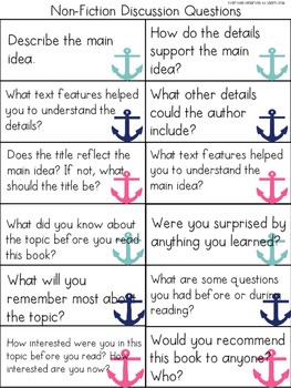 Discussion Questions for Reading, Writing, Speaking, and Listening