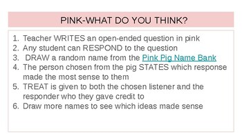 Discussion Routine: Pink, What do you think?