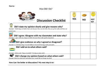 Discussion Rubric