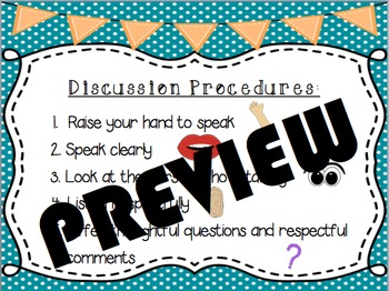 Discussion Rules/Procedures