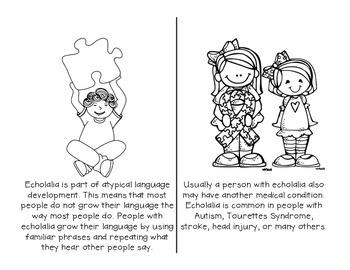 Discussion Starter: Echolalia - Mini Reader & Lesson Companion