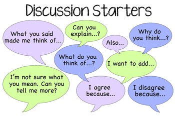 Discussion Starter Questions Poster/Handout