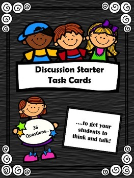 Discussion Starter Task Cards