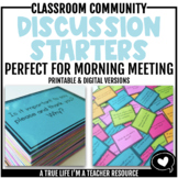 Discussion Starters for Class Meetings | Journals | Writing