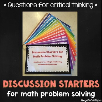 Discussion Starters for Math Problem Solving