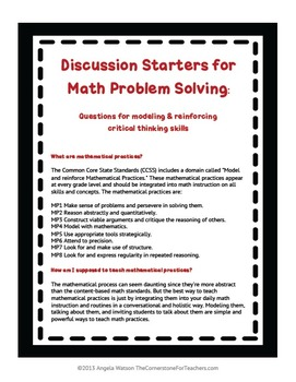 strategies for critical thinking in math