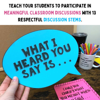 Discussion Stems Posters