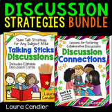 Discussion Strategies Bundle (with Editable Discussion Cards)